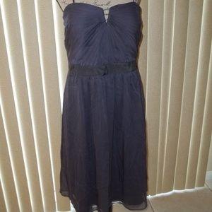 ADRIANNA PAPELL GUNMETAL COCKTAIL DRESS SIZE 18
